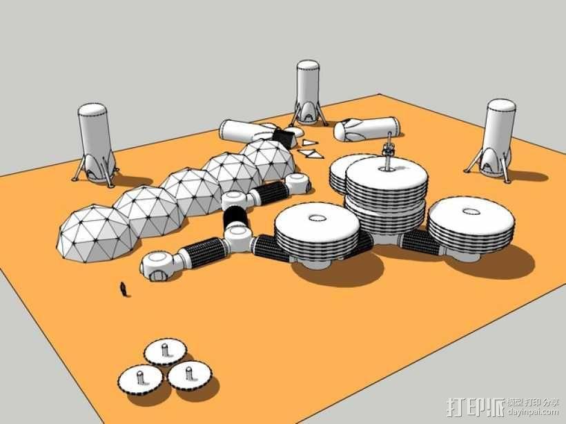 模块化月球基地 3D模型  图1