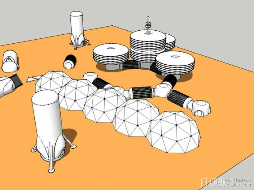 模块化月球基地 3D模型  图2
