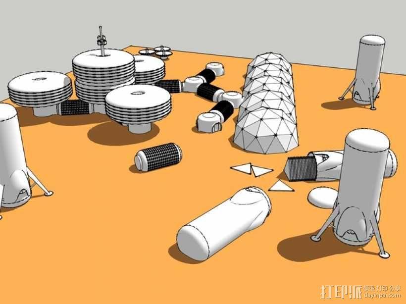 模块化月球基地 3D模型  图3