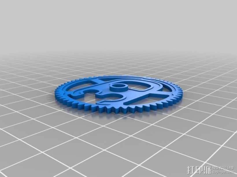 3D-lab徽章标志 3D模型  图5