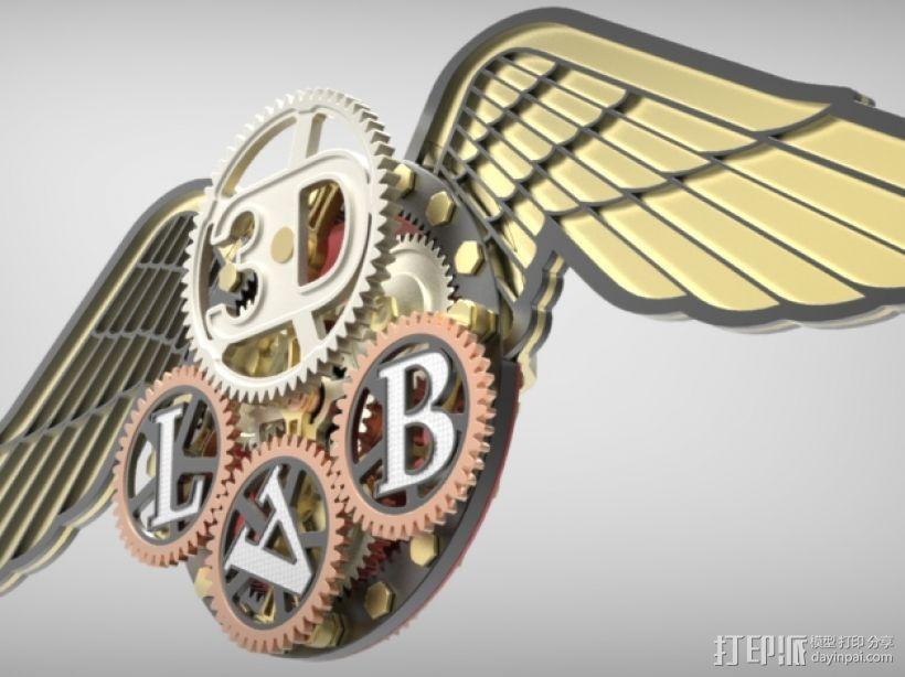 3D-lab徽章标志 3D模型  图23