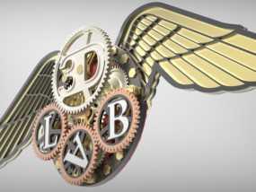 3D-lab徽章标志 3D模型