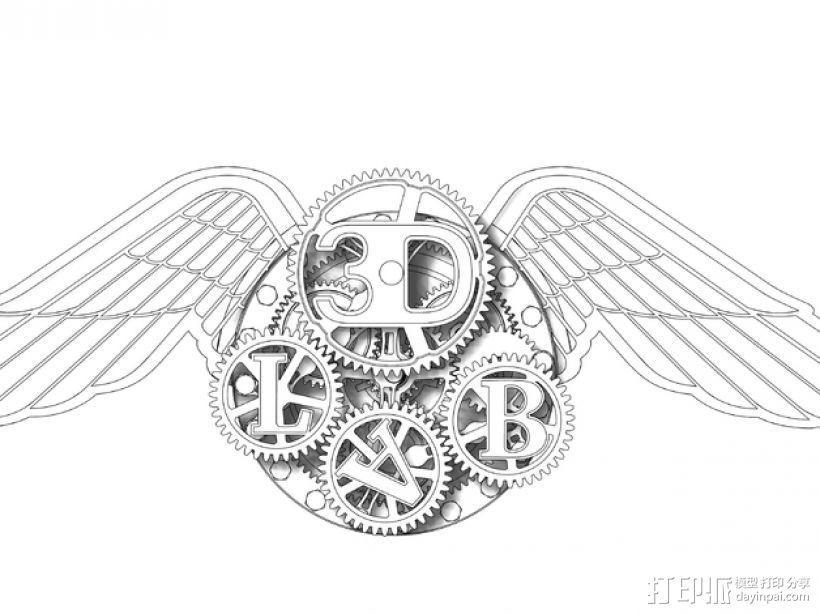 3D-lab徽章标志 3D模型  图25
