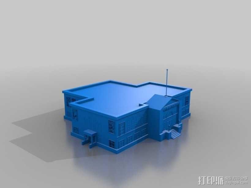 卡内基图书馆大厦 3D模型  图2