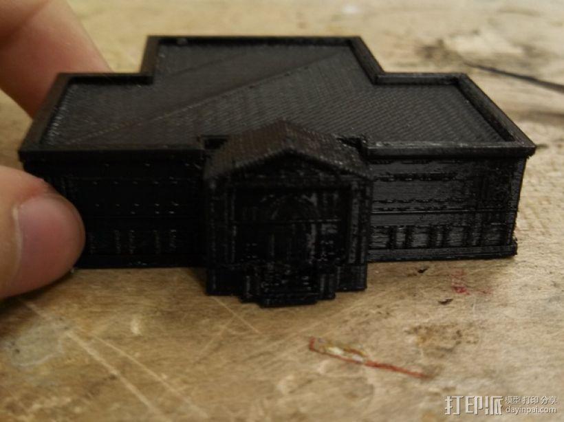 卡内基图书馆大厦 3D模型  图1