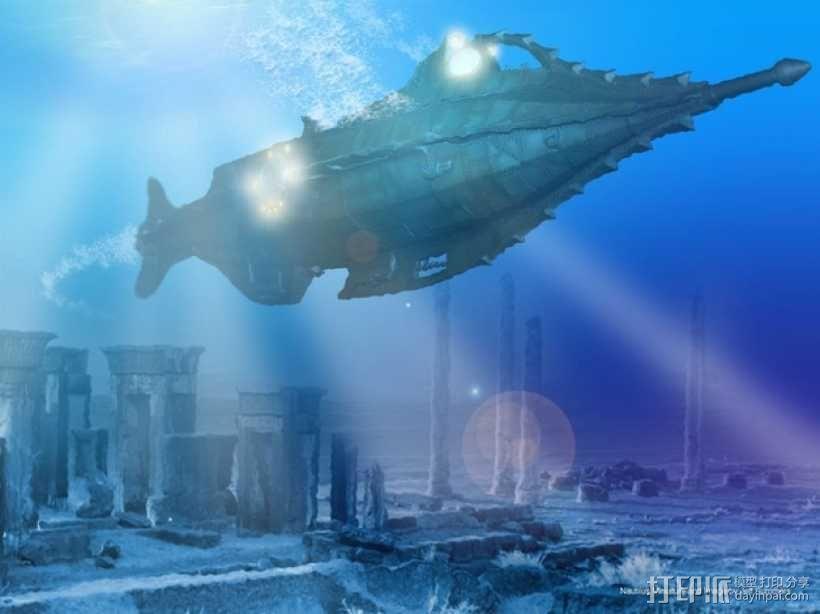 鹦鹉螺号潜艇模型 3D模型  图5