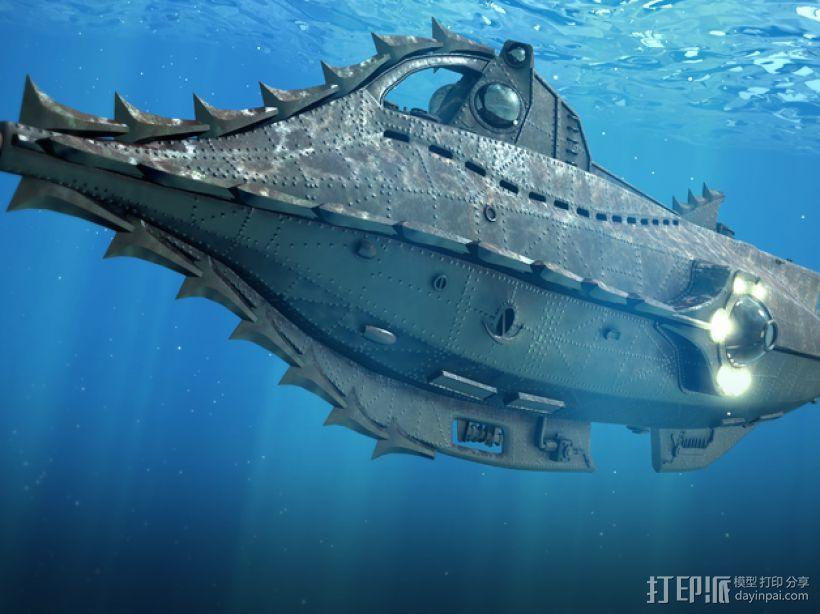 鹦鹉螺号潜艇模型 3D模型  图4