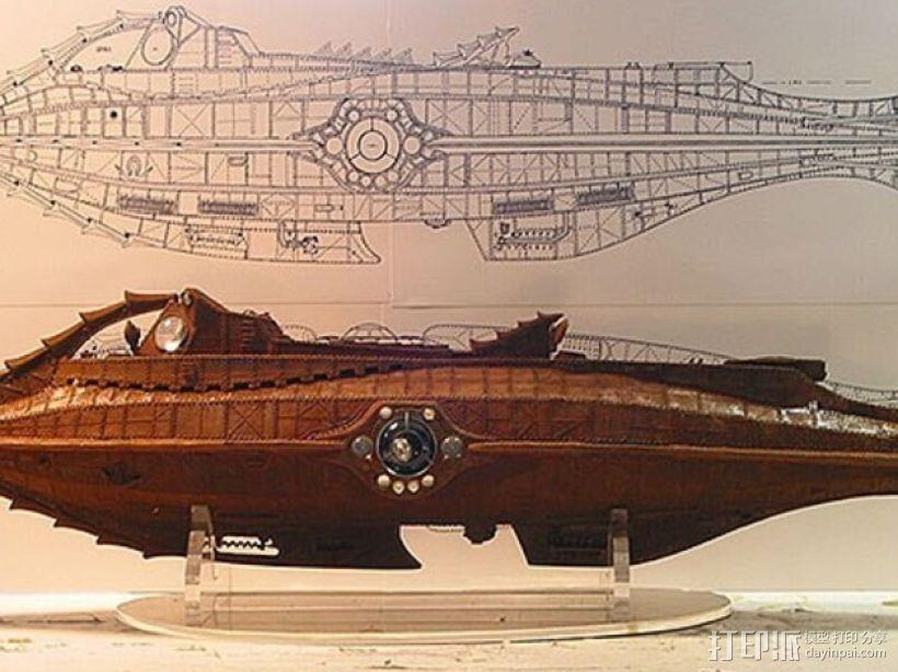 鹦鹉螺号潜艇模型 3D模型  图7