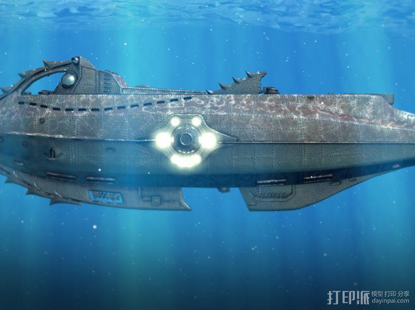 鹦鹉螺号潜艇模型 3D模型  图10