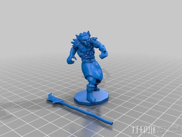 半兽人 3D模型  图3