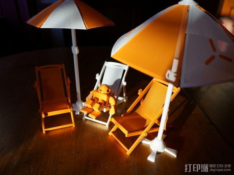 沙滩椅 机器人 3D模型  图1