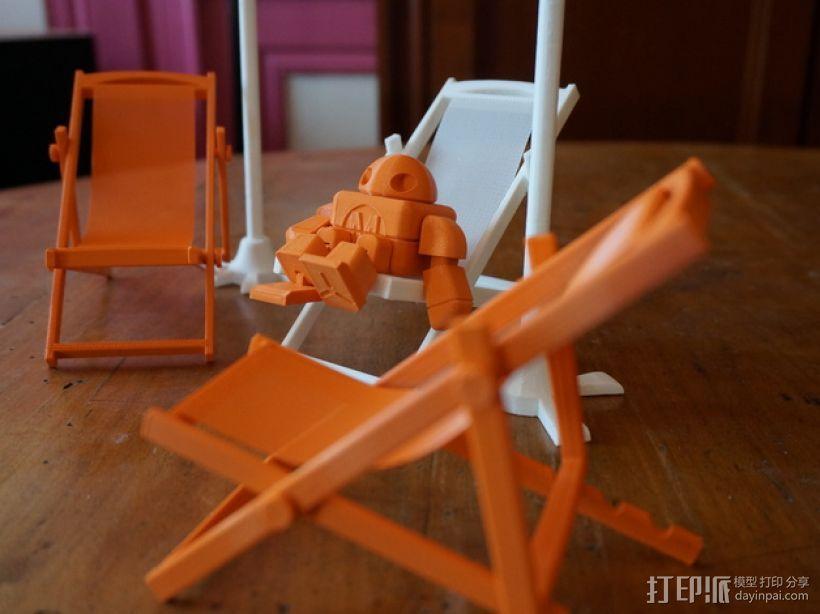 沙滩椅 机器人 3D模型  图3