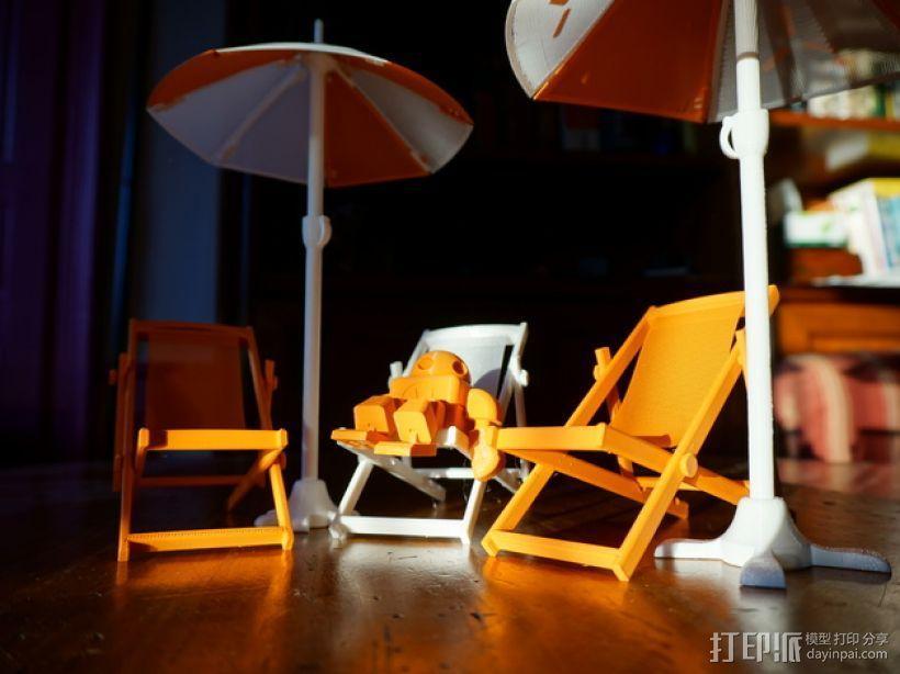 沙滩椅 机器人 3D模型  图4