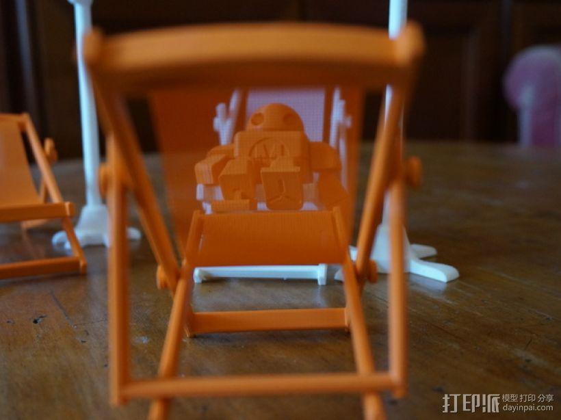 沙滩椅 机器人 3D模型  图2