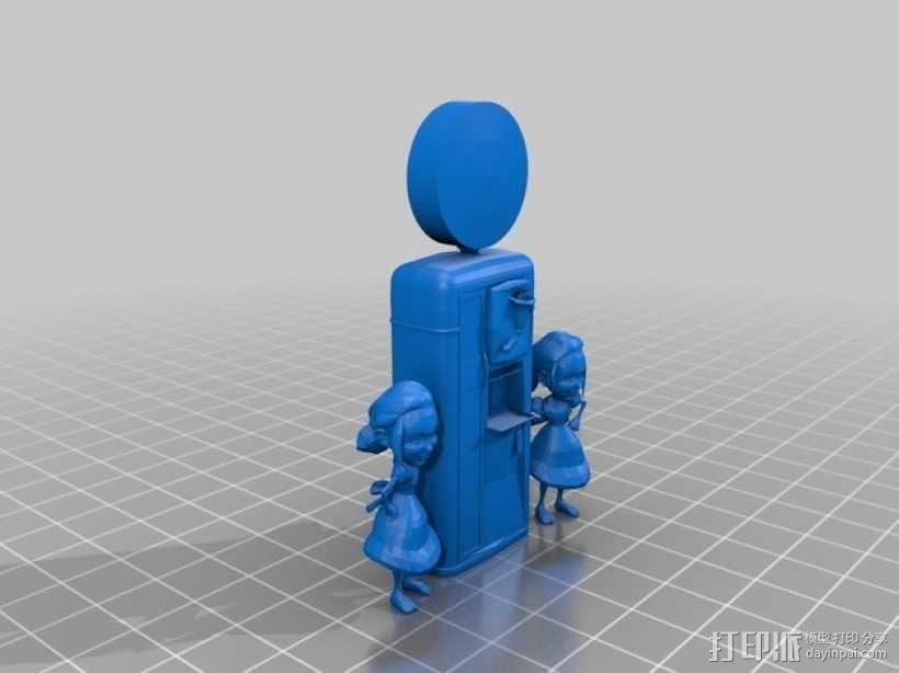 采收园机器 3D模型  图1
