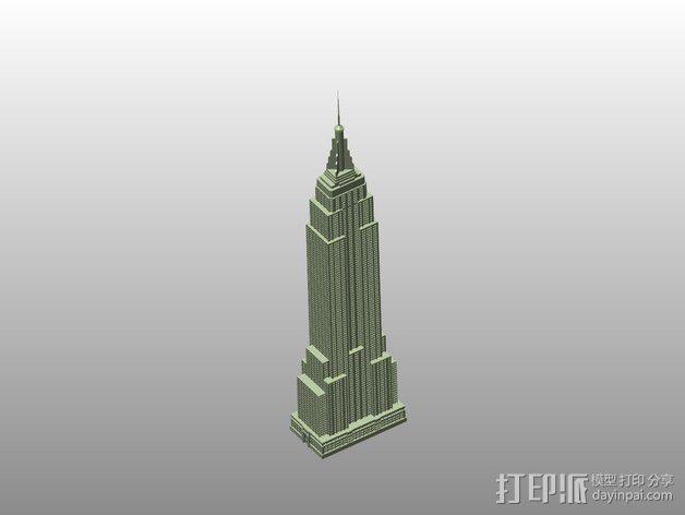 帝国大厦 3D模型  图1