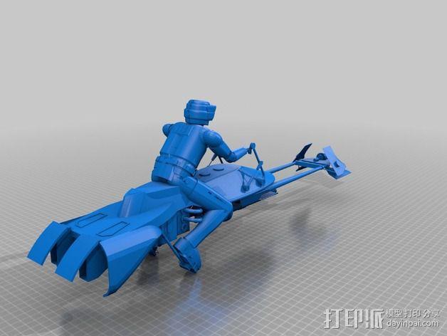 暴风军摩托艇 3D模型  图1
