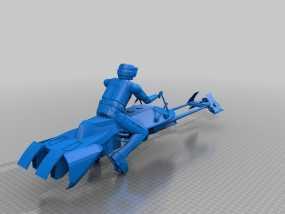 暴风军摩托艇 3D模型