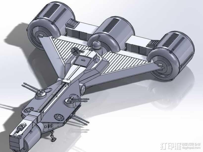 星球大战 护卫舰  3D模型  图2