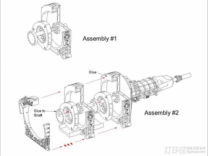 旋缸发动机 3D模型  图4