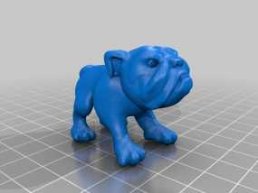 斗牛犬 3D模型
