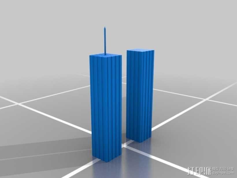 世贸大楼 双子塔 3D模型  图1