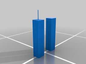 世贸大楼 双子塔 3D模型