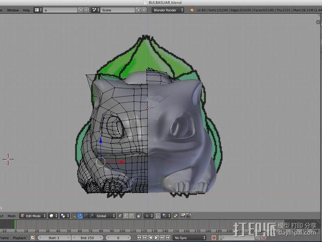 妙蛙种子 3D模型  图23