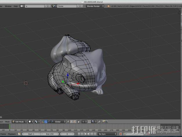 妙蛙种子 3D模型  图24