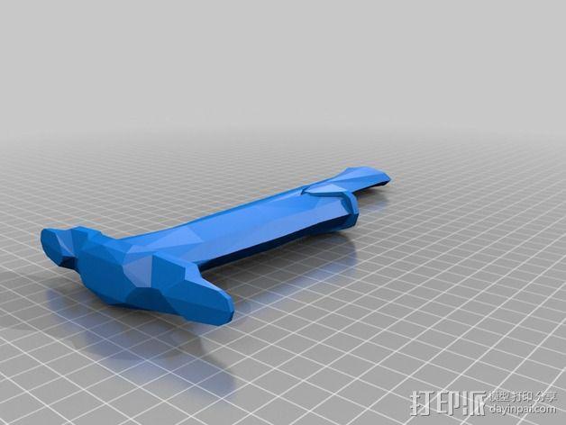 上古卷轴 铁匕首 3D模型  图2
