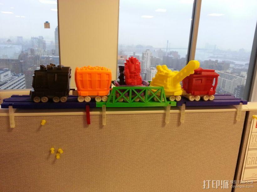 积木火车轨道 3D模型  图1