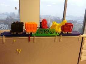 积木火车轨道 3D模型