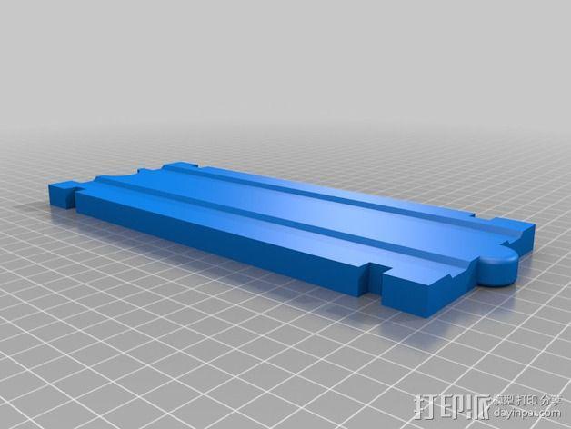积木火车轨道 3D模型  图2