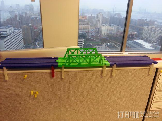 积木火车轨道 3D模型  图5