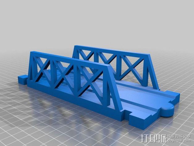 积木火车轨道 3D模型  图3