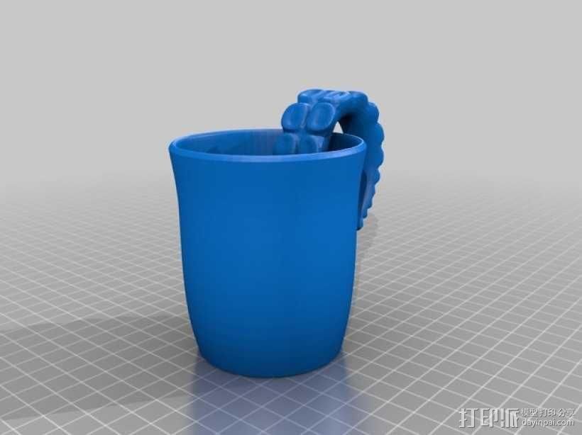 克苏鲁杯 马克杯 3D模型  图1