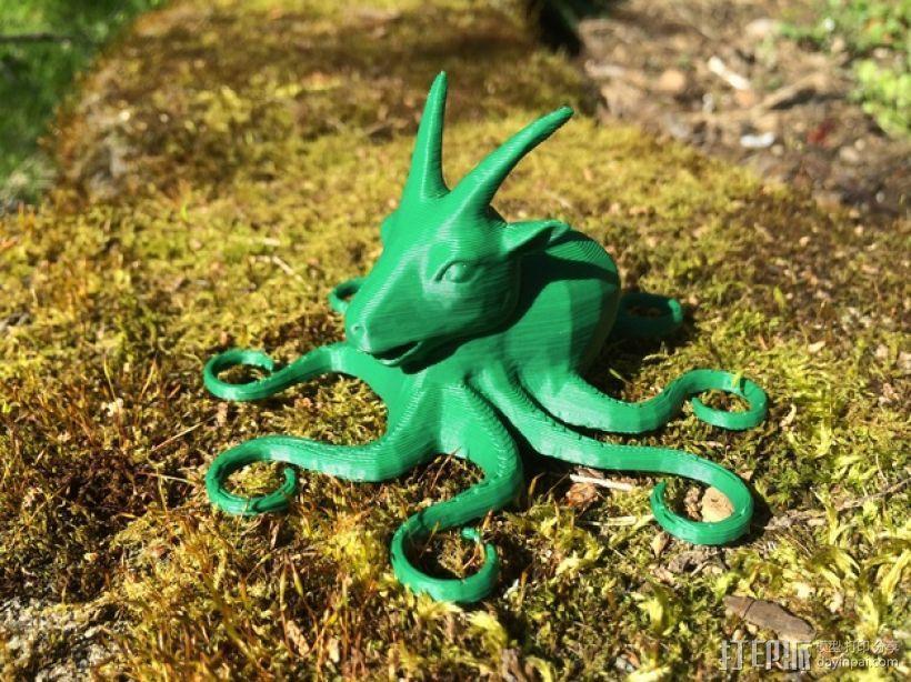 山羊章鱼 3D模型  图1
