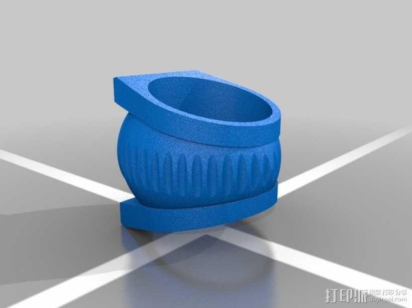 绿灯军团戒指 3D模型  图2