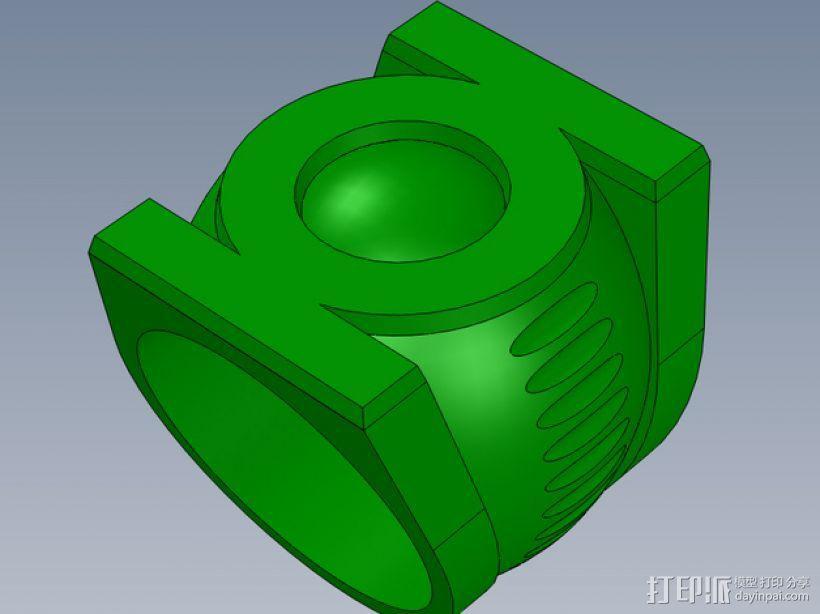 绿灯军团戒指 3D模型  图1