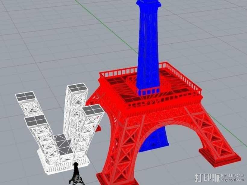 埃菲尔铁塔  3D模型  图10