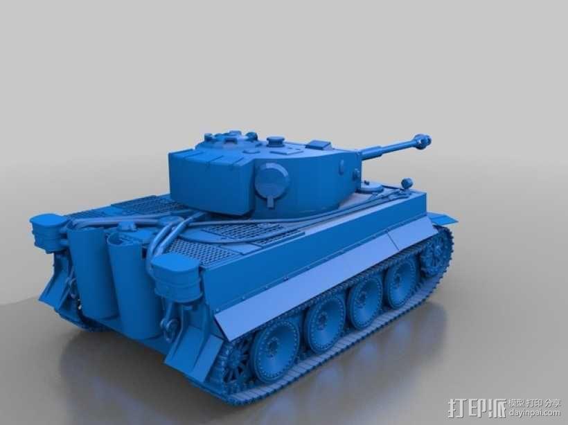 虎式坦克 3D模型  图1