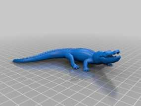 短吻鳄 3D模型