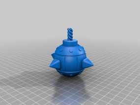 部落冲突 炸弹 3D模型
