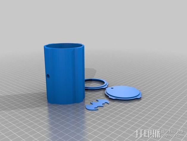 蝙蝠投影  3D模型  图2