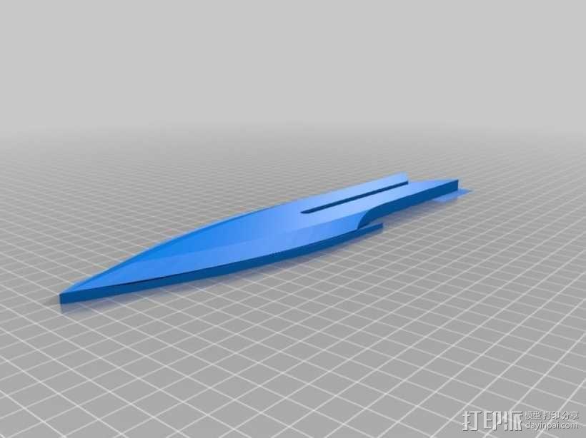 Klingon Daq Tahg 匕首 3D模型  图2