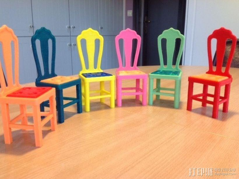 芭比娃娃的椅子 3D模型  图1