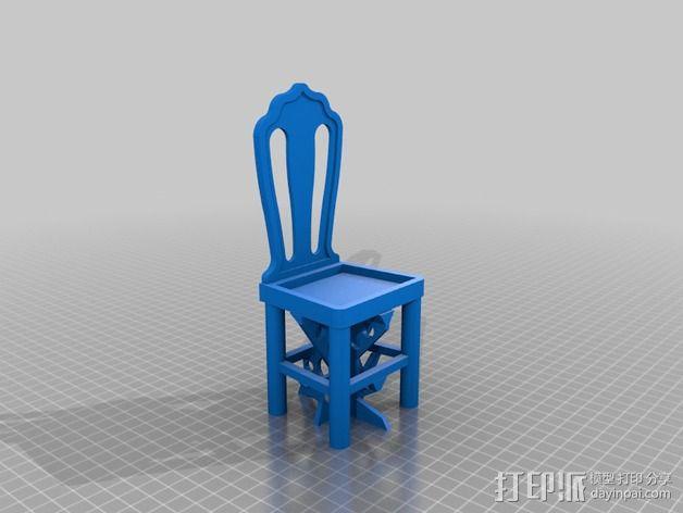 芭比娃娃的椅子 3D模型  图2