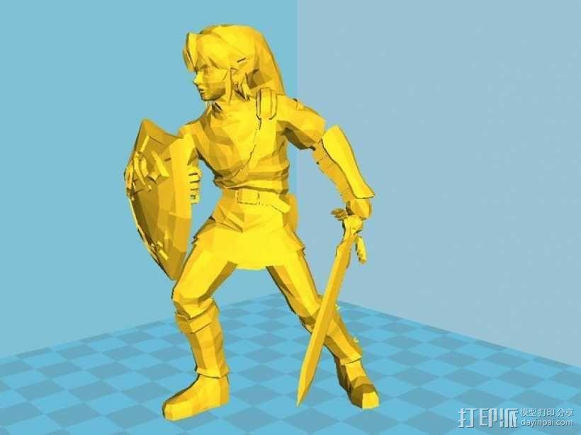 林克 塞尔达传说 3D模型  图1
