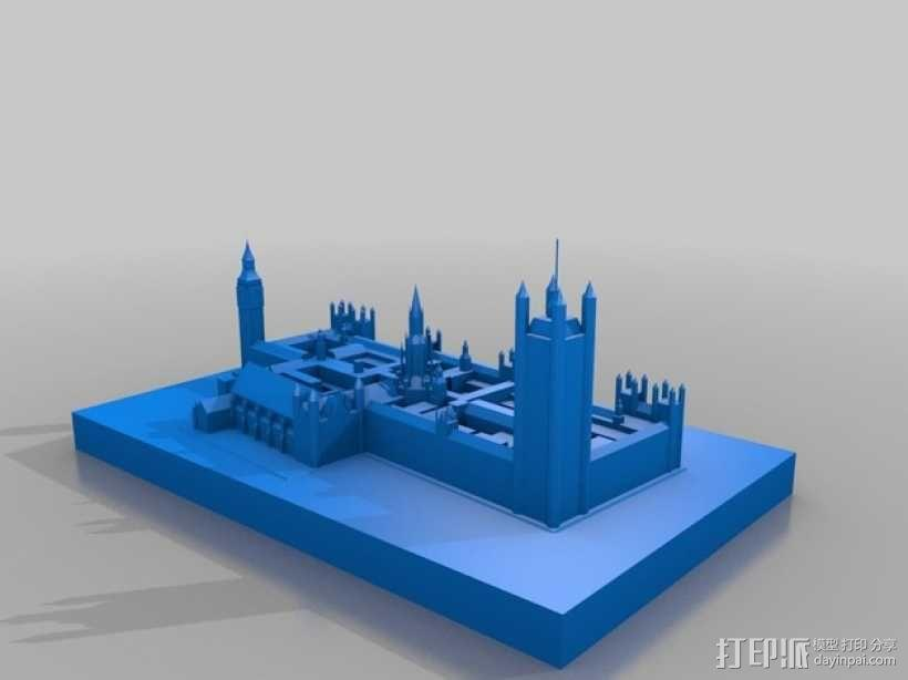 威斯特敏斯特宫 3D模型  图1