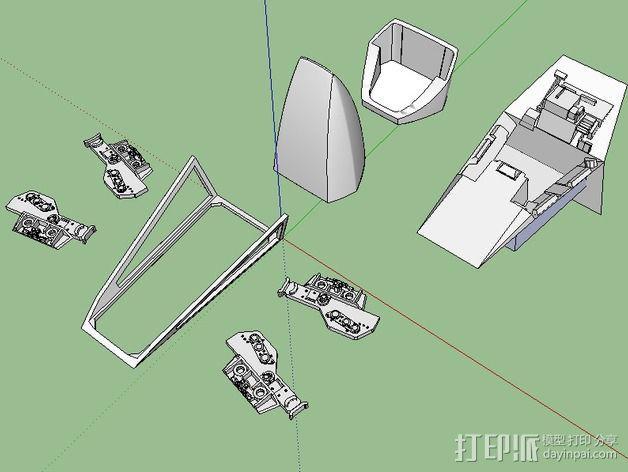 X翼战斗机  3D模型  图4